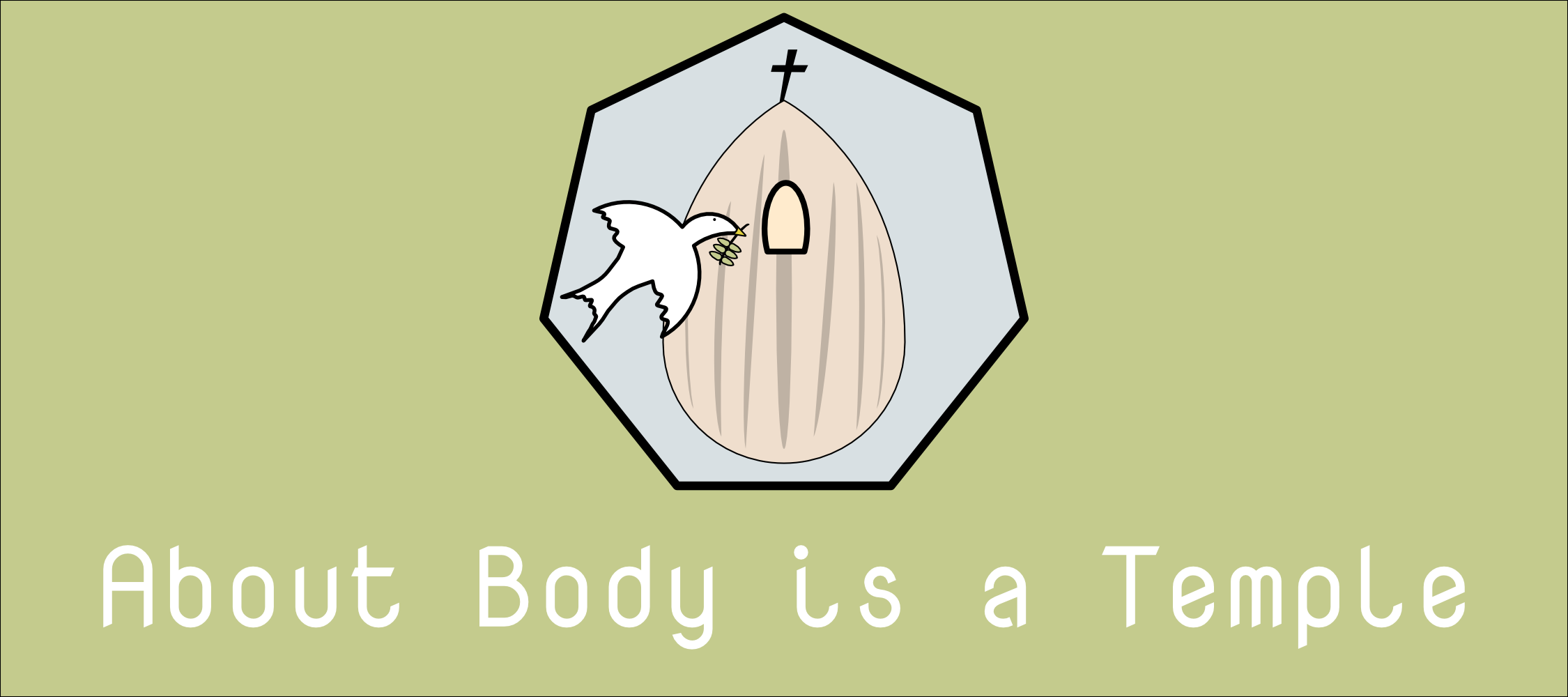 """Body is a Temple Logo with text underneath reading: """"About Body is a Temple"""""""