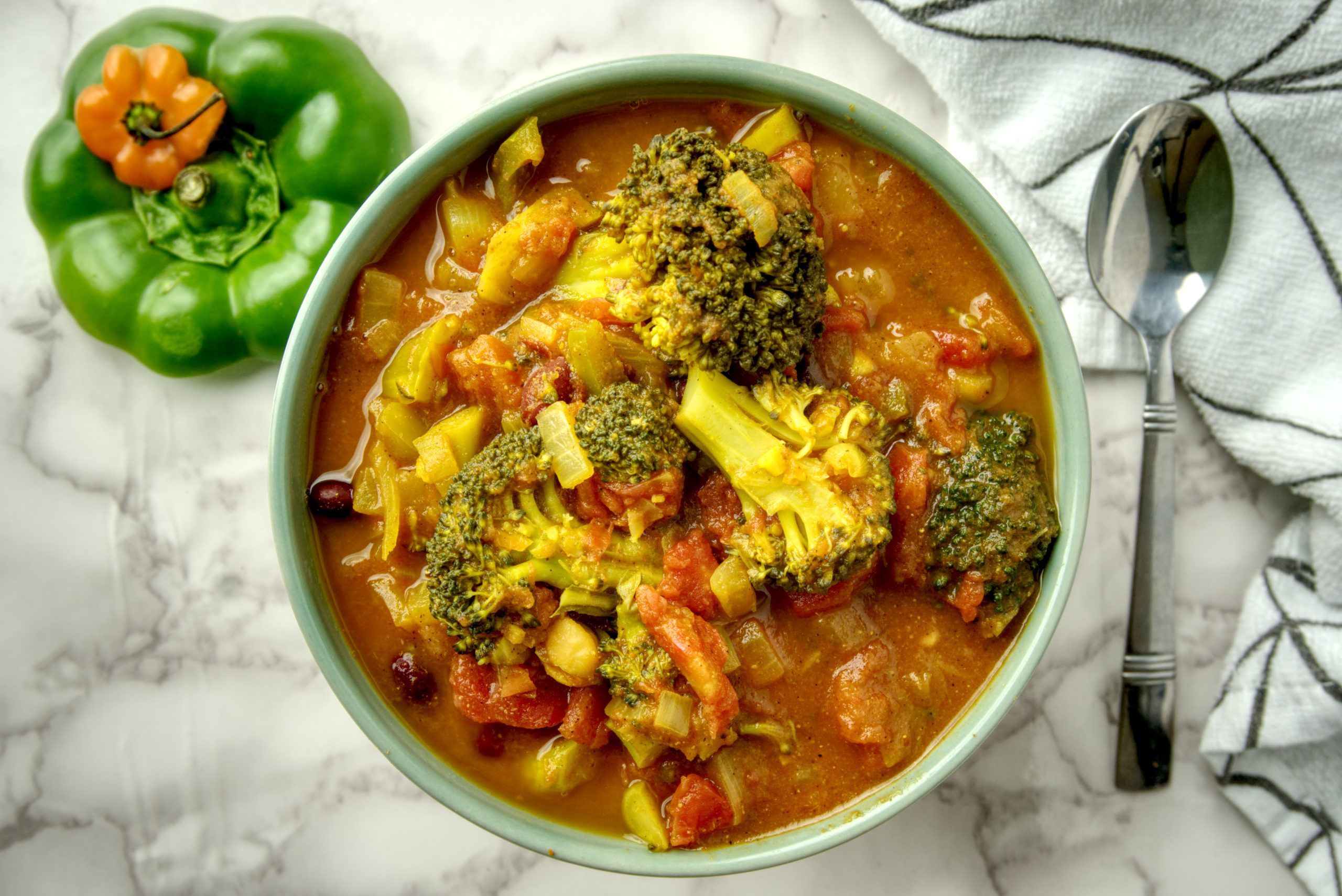 Broccoli Bean Curry (Oil Free)